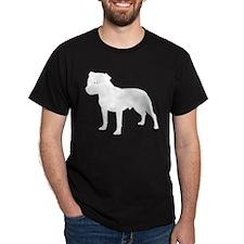 Staffordshire Bull Terrier Black T-Shirt