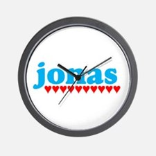 Jonas and Hearts Wall Clock