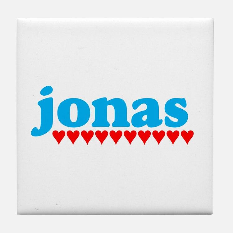 Jonas and Hearts Tile Coaster
