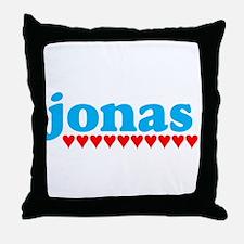 Jonas and Hearts Throw Pillow