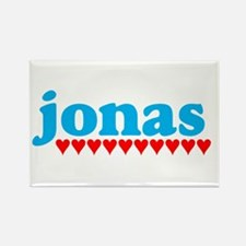 Jonas and Hearts Rectangle Magnet