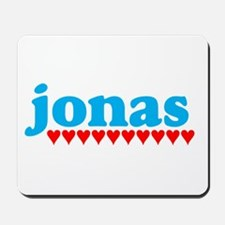 Jonas and Hearts Mousepad