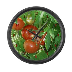 Tomatoes Large Wall Clock