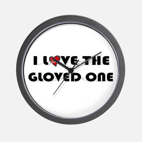 I Love The Gloved One (King of Pop) Wall Clock