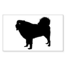 Tibetan Mastiff Rectangle Decal
