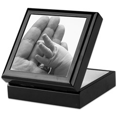 In Daddy's Hand Keepsake Box