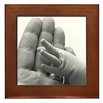 In Daddy's Hand Framed Tile