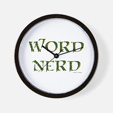 Word Nerd (medieval) Wall Clock