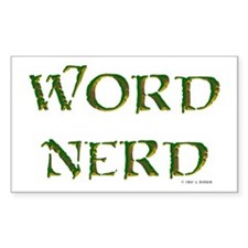 Word Nerd (medieval) Rectangle Stickers