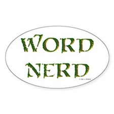 Word Nerd (medieval) Oval Stickers