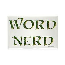 Word Nerd (medieval) Rectangle Magnet