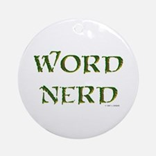 Word Nerd (medieval) Ornament (Round)