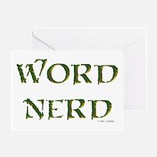 Word Nerd (medieval) Greeting Card