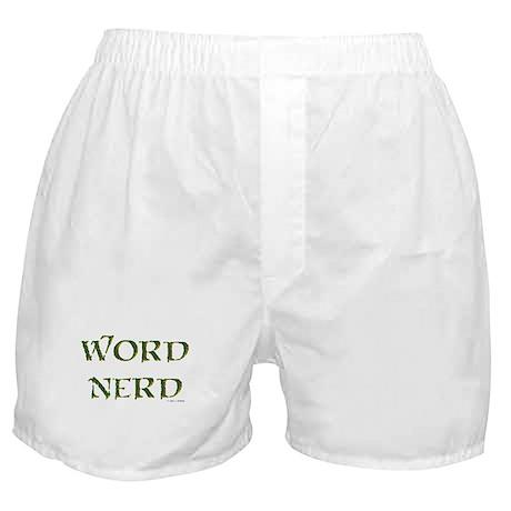 Word Nerd (medieval) Boxer Shorts