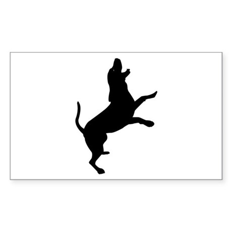Treeing Walker Coonhound Rectangle Sticker