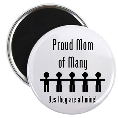 Mom of Many - 5 Kids Magnet
