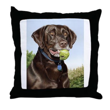 Chocolate Lab 1 Throw Pillow