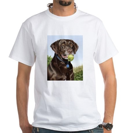 Chocolate Lab 1 White T-Shirt
