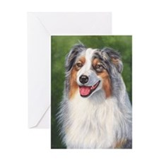 Blue Merle Australian Shepher Greeting Card
