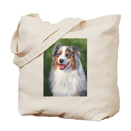 Blue Merle Australian Shepher Tote Bag