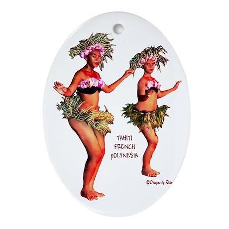 Tahiti Oval Ornament