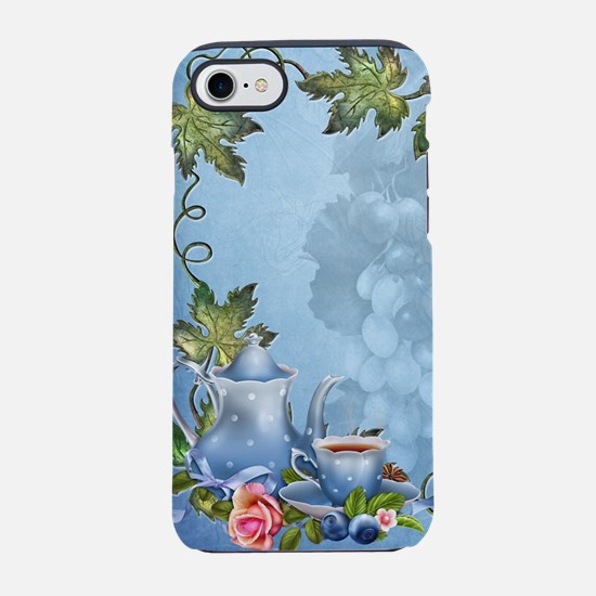 Blue Tea Party iPhone 7 Tough Case