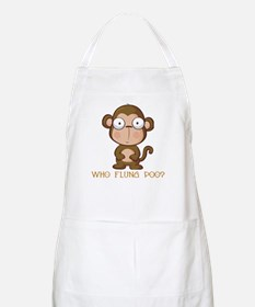 Who Flung Poo? BBQ Apron