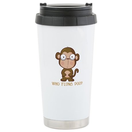 Who Flung Poo? Stainless Steel Travel Mug
