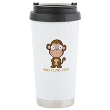 Who Flung Poo? Travel Mug