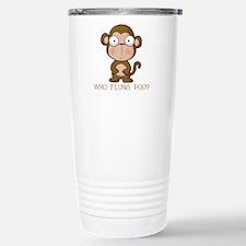Who Flung Poo? Travel Mug