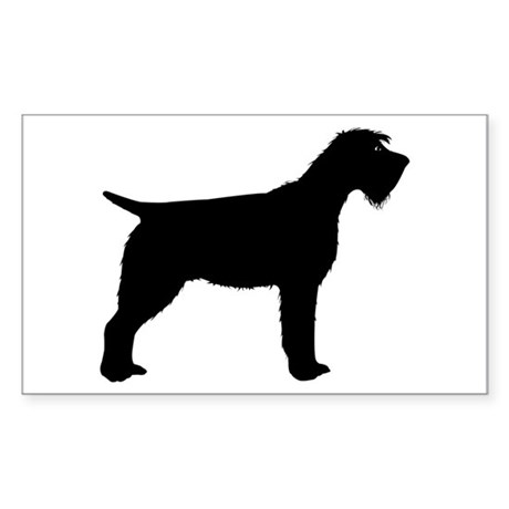 Wirehaired Pointing Griffon Rectangle Sticker