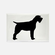 Wirehaired Pointing Griffon Rectangle Magnet
