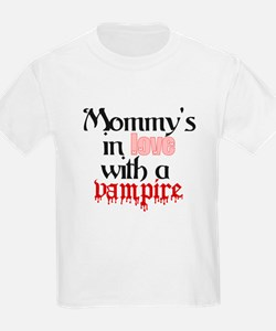 Mommys in love with a vampire Kids T-Shirt