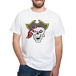 Pirate Skull White T-Shirt