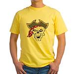 Pirate Skull Yellow T-Shirt