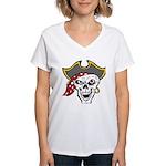 Pirate Skull Women's V-Neck T-Shirt