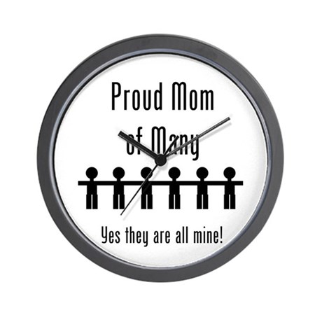 Mom of Many - 6 Kids Wall Clock