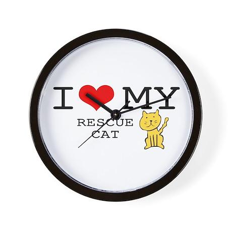 Rescue Cat Wall Clock