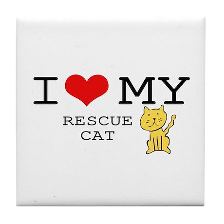 Rescue Cat Tile Coaster