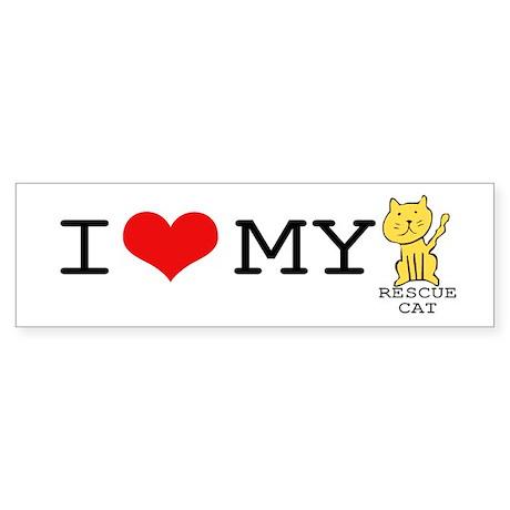 Rescue Cat Bumper Sticker