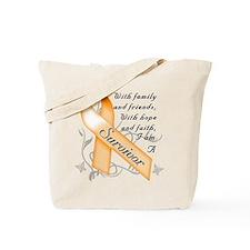 Cute Leukemia awareness Tote Bag