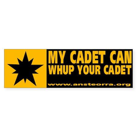 "Ansteorra Vinyl ""My Cadet"" Bumper Sticker"