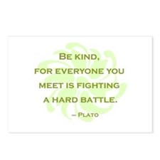 Plato Quote: Be Kind -- Postcards (Package of 8)