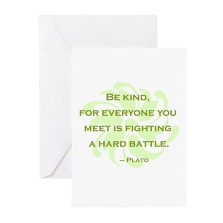 Plato Quote: Be Kind -- Greeting Cards (Pk of 10)