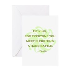 Plato Quote: Be Kind -- Greeting Card