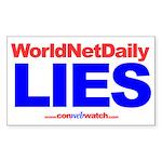 """""""WorldNetDaily Lies"""" sticker"""