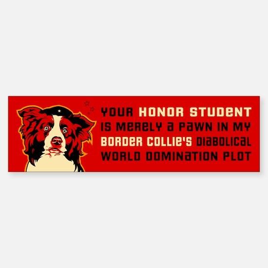 Border Collie Honor Student Bumper Car Car Sticker