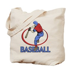 Heart Baseball Tote Bag