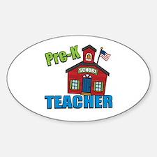 Pre-K Teacher Oval Decal