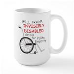 Invisibly Disabled Large Mug